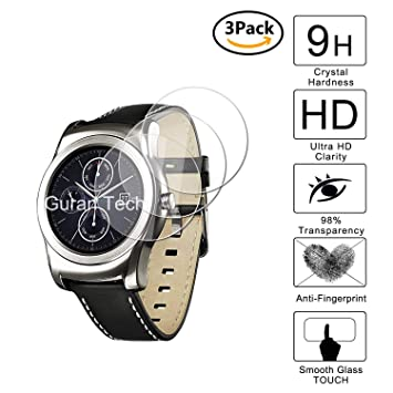 Guran [3-Unidades] Protector de Pantalla Vidrio Cristal Templado para LG Watch 150 Smartwatch Cristal Vidrio Templado Film (9H, 2.5D Edge, 0.3mm)