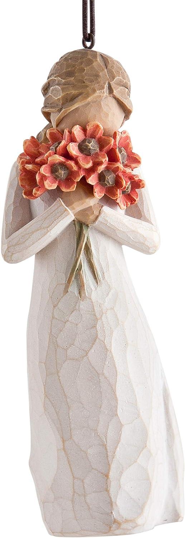 Enesco Willow Tree 10.5 cm Multicolor de Resina Ornamento suspendido Rodeado De Amor