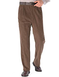 RIDDLED WITH STYLE New Mens Corduroy Cord Trousers Cotton Formal Office Smart Casual Big Plus Size Pocket Dress Pants