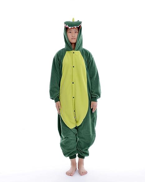 DAYAN Dinosaure Unisex Pijamas Adulto Anime Cosplay Ropa Pijamas Franela Hombre Mujer Dormir Animal Pyjama Caliente