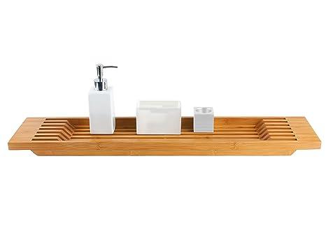 Accessori Per Vasca.Present Time Set Per Vasca Da Bagno Con Accessori In Legno