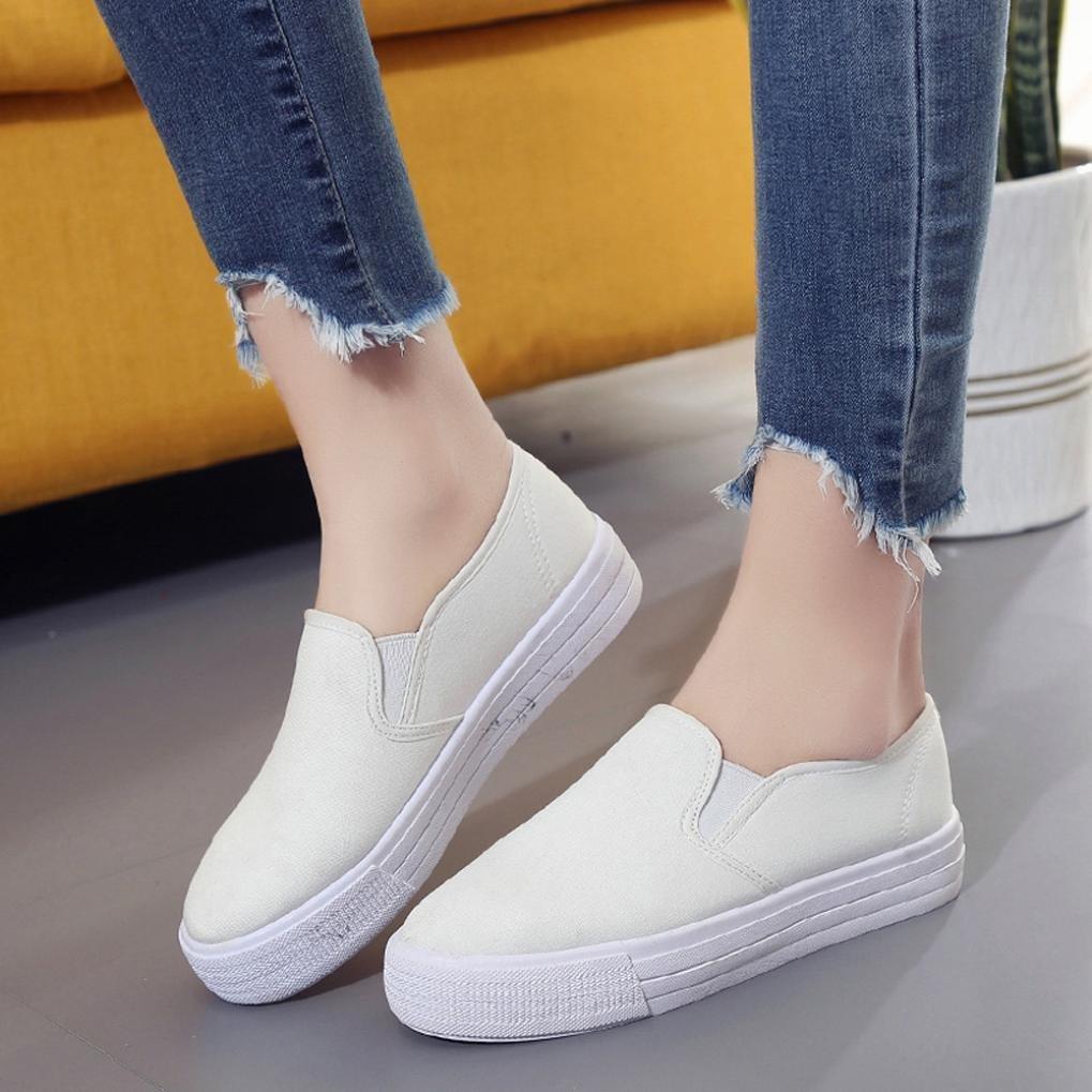 ZODOF Botas de Plataforma de Mujer Zapatos Slip On Botines Moda Plana con Zapatos Casuales: Amazon.es: Ropa y accesorios
