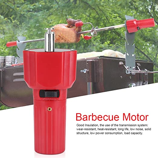 Amazon.com: Barbecue Motor 1.5 V Red Solid Construction Barbecue Grill Rotator Motor BBQ Holder Roast Bracket Accessory: Home & Kitchen