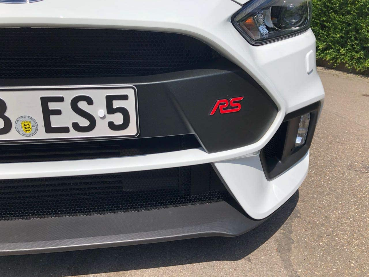 Focus Rs Mk3 Gel Embleme Inlay Front Heck Freie Farbwahl Rot Auto