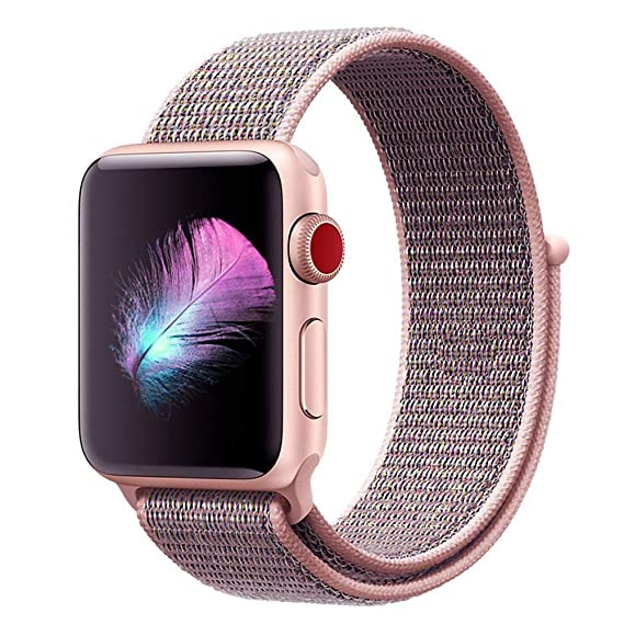 09635347e Watch Band for Apple Watch Band 38mm - Soft Breathable Nylon Sport Band  Apple Watch Bands