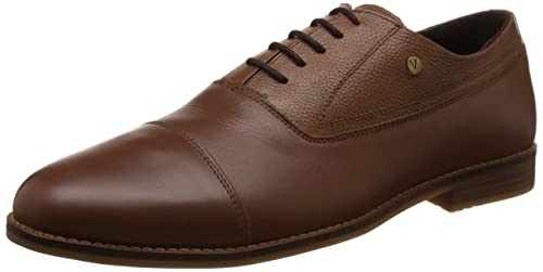 94921f67035 Image Unavailable. Image not available for. Colour  Van Heusen Men s Tan Leather  Formal Shoes ...