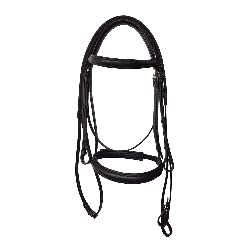 Black Cob Black Cob Kincade Leather Raised Cavesson Bridle II