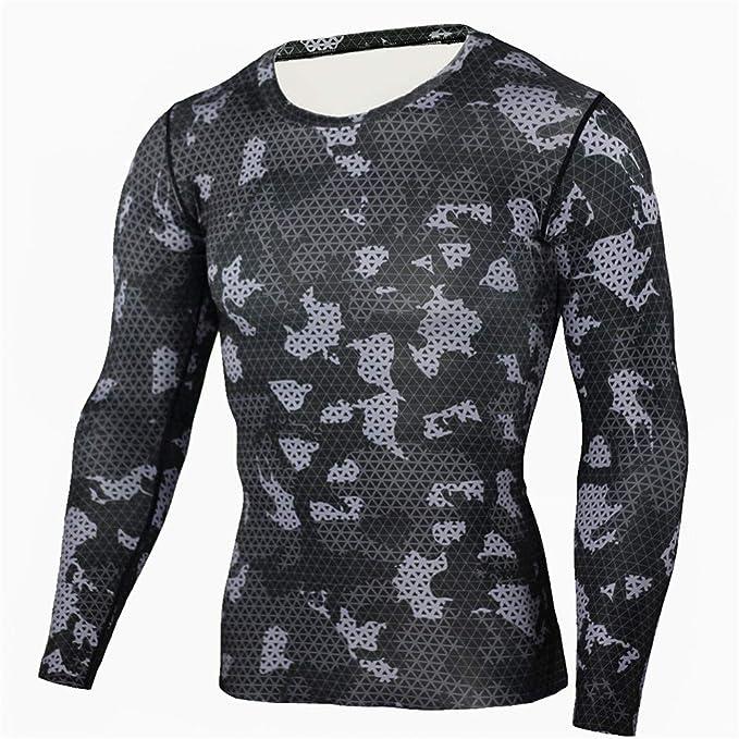 Morbuy Traje de Deportiva Hombres, Camiseta de Compresión Hombre ...