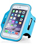 iPhone Armband for 6/7/8 & Galaxy 6/7/8 Sweatproof Sports & Running Armband. Key Holder, Reflective Safety Strip, Bonus Extender. Not for Larger iPhone Plus or Galaxy + models