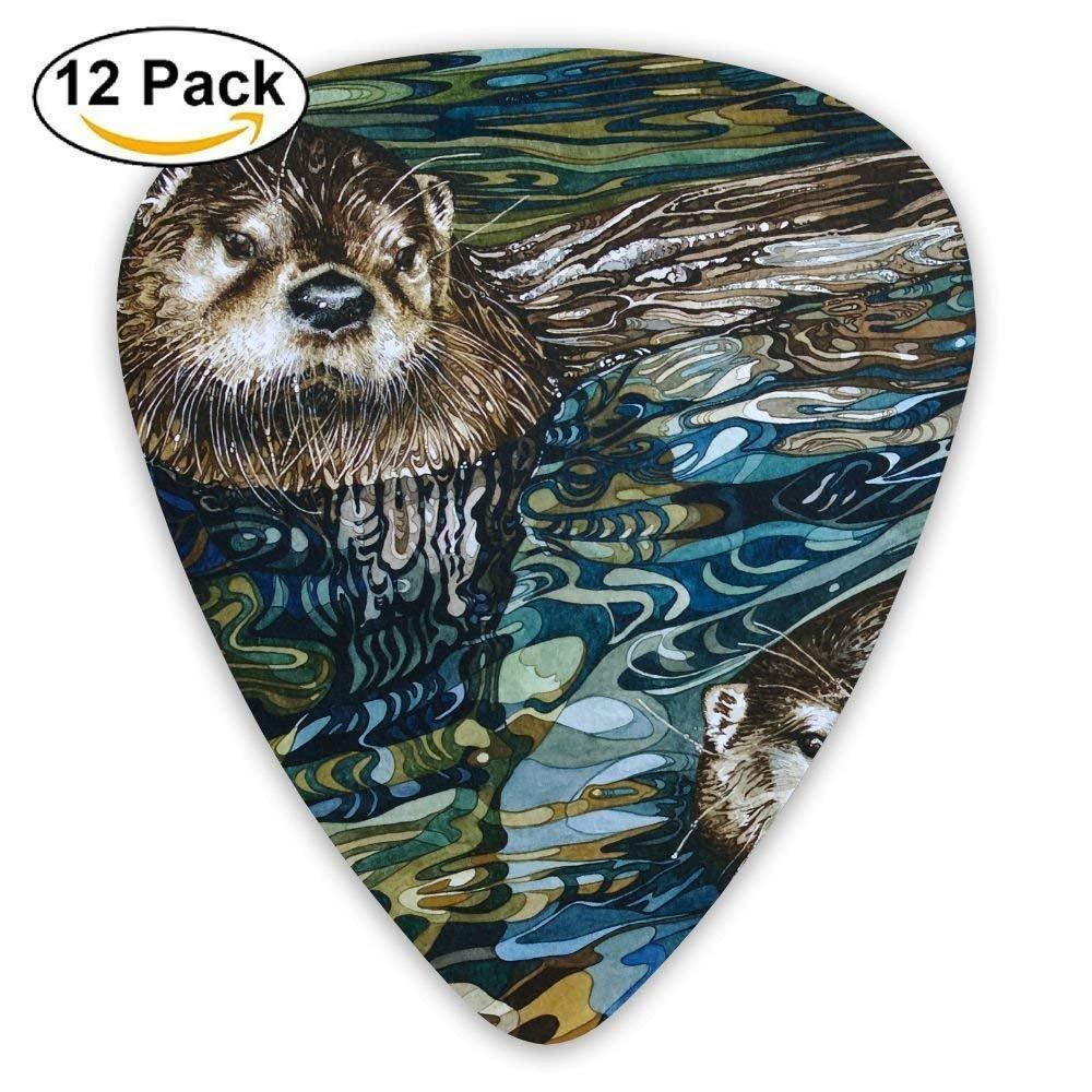 12-pack Custom Guitar Picks Otter Swim Design Standard Bass Guitarist Music Gifts Fffpp Fffp-p1868602