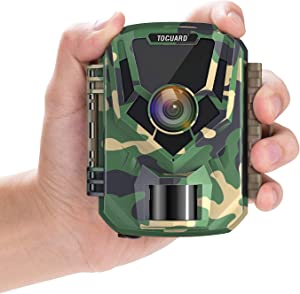 "Upgrade- TOGUARD Mini Trail Camera 16MP 1080P Game Camera 2"" LCD Small Hunting Trap Camera with IR Night Vision 120° Wide Angle Waterproof Video Camera for Wildlife Monitoring and Home Observation"