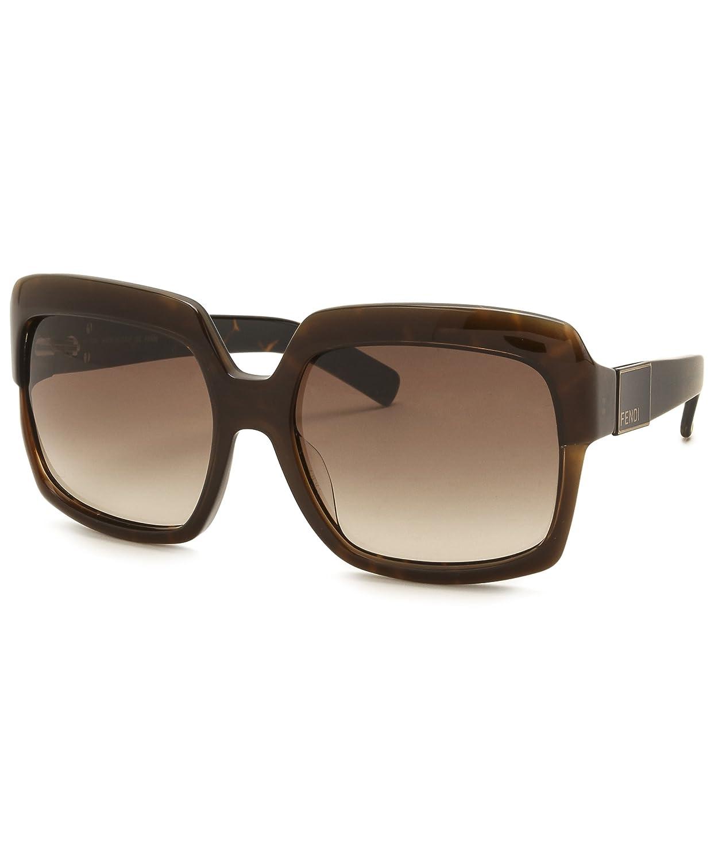 Amazon.com: Fendi 5148 201 Brown 5148 Square Sunglasses ...