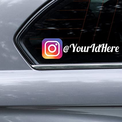 Custom printed instagram personalized car wall vinyl decals stickers 15 inches