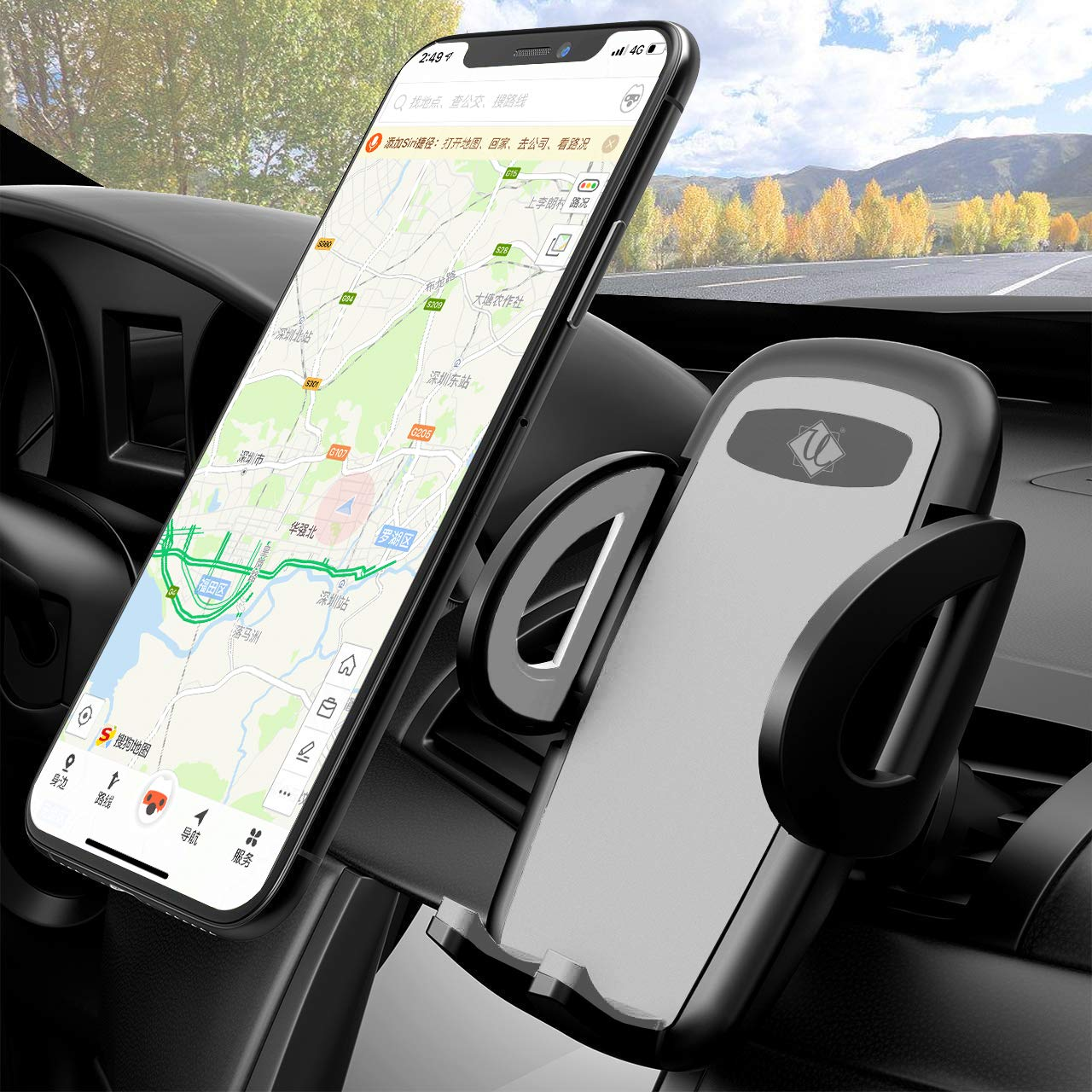 Phone Holder for Car Dollars Holder for Cell Phone in Vehicle Galaxy Note 10//S10//S8// Car Phone Mount 360/° Rotation Phone Car Mount Air Vent Phone Holder Compatible iPhone 11//XS MAX//XR//X//8//