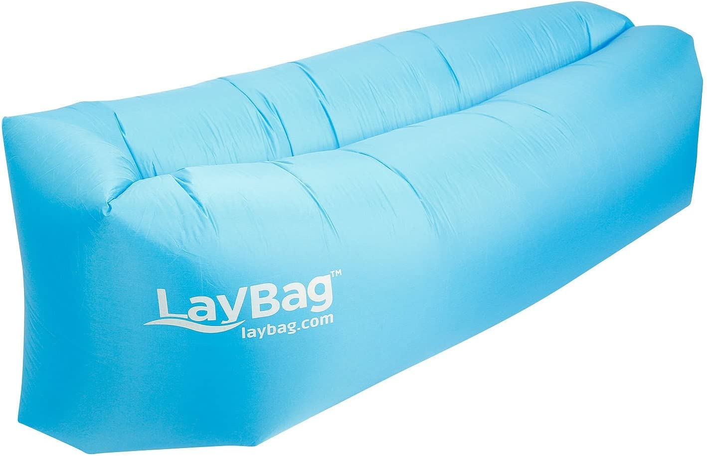 Amazon.com: laybag Lounge de aire inflable, Azul: Toys & Games