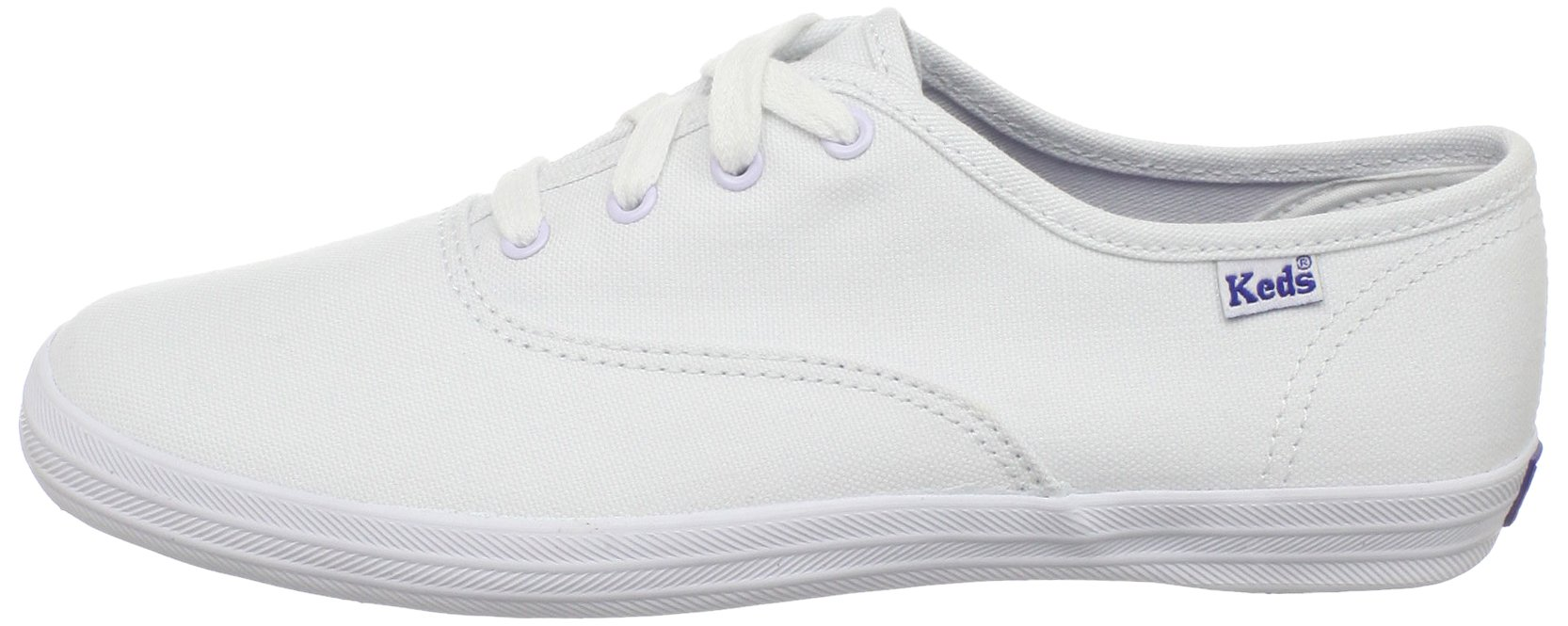 Keds girls Original Champion CVO Sneaker ,White Canvas,1 W US Little Kid by Keds (Image #5)