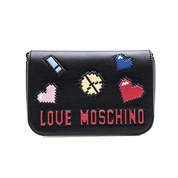 ca5e9b976549d Love Moschino Pixel crossbody black  Amazon.co.uk  Clothing