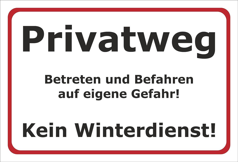 15x10cm 3mm Aluverbund Melis Folienwerkstatt Schild Privatweg Kein Winterdienst S00018-001-B 20 VAR.
