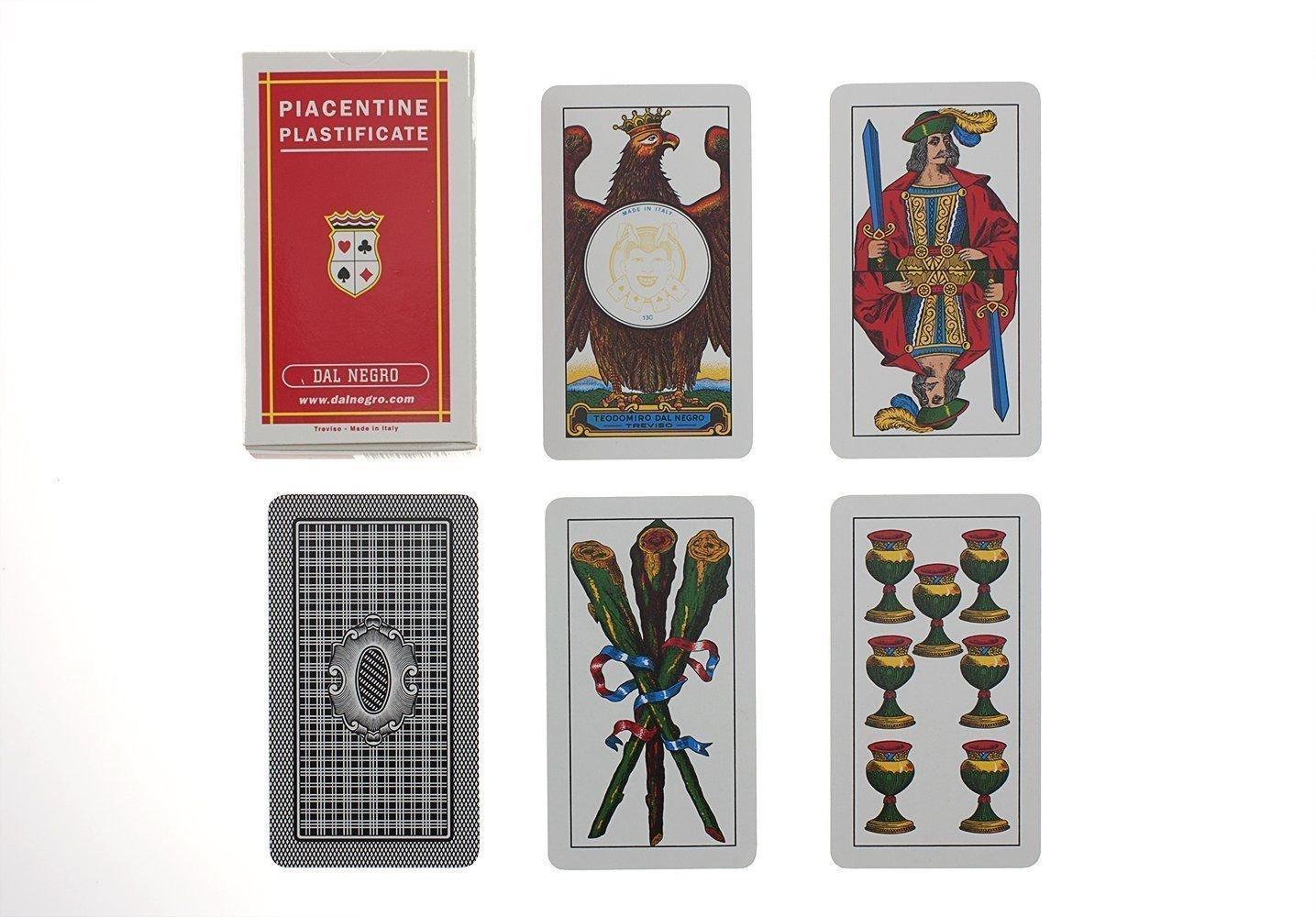Dal Negro 10008 - Piacentine Carte da Gioco Regionali, Astuccio Rosso Teodomiro Dal Negro S.p.A. 4XXX2