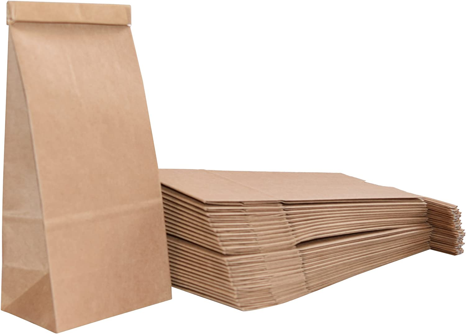 1/2 Pound, Poly-Lined, Kraft Coffee Bags (100 Count) - JA Kitchens
