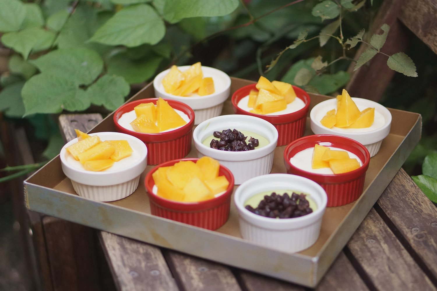 Cinf  Porcelain Ramekin Red 4 oz. Pudding Bowls Dishes Cup For Baking, Set Of 6 by Cinf (Image #6)