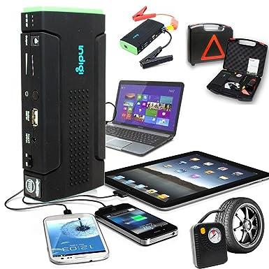 Indigi® más potente banco de la energía 12800 mAh Banco de alimentación de vehículo de
