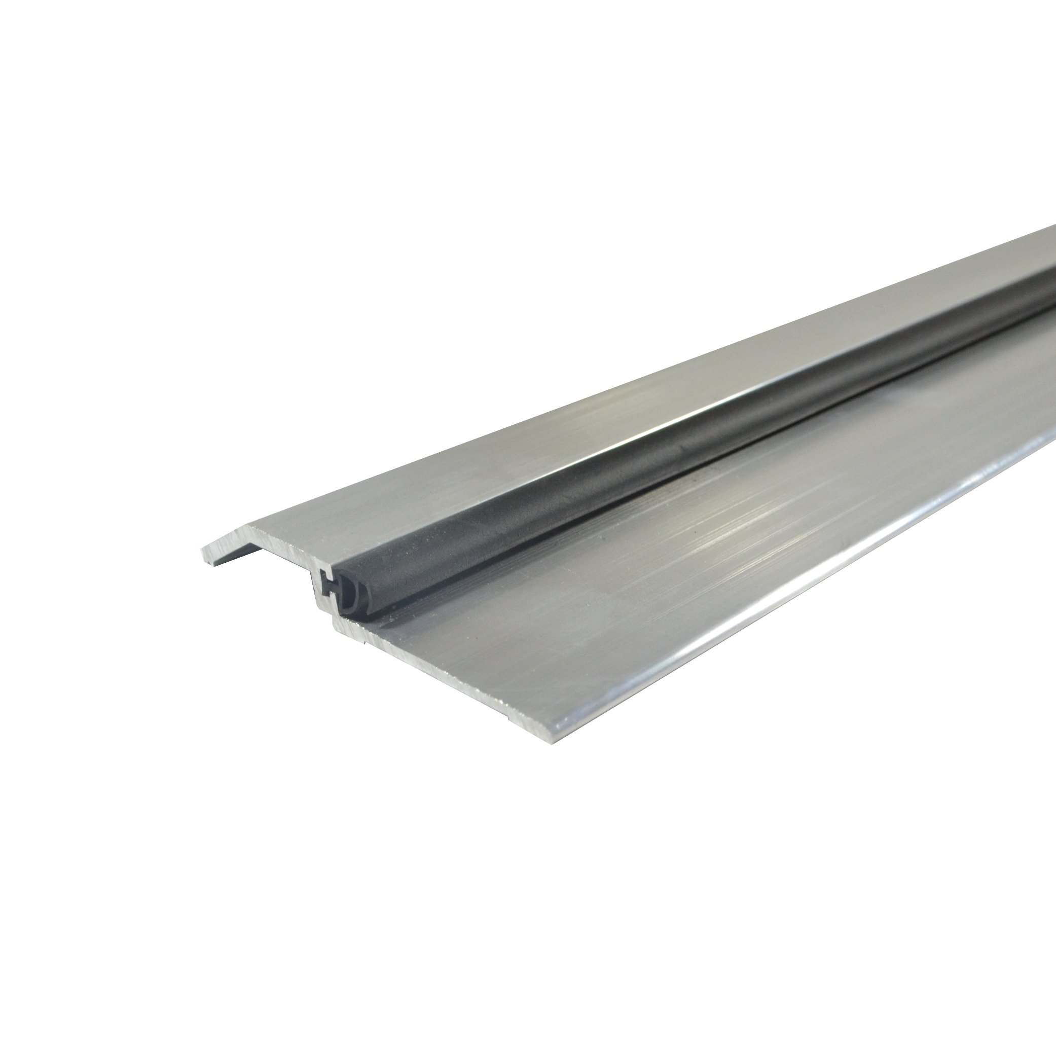 Mill Aluminum High Rabbeted Threshold/Saddle with Solid Rubber Extrusion (3465MA), FH #10 x 1-1/2'' Supplied, (3-11/16'' W x 1/2'' H x 48'' L)