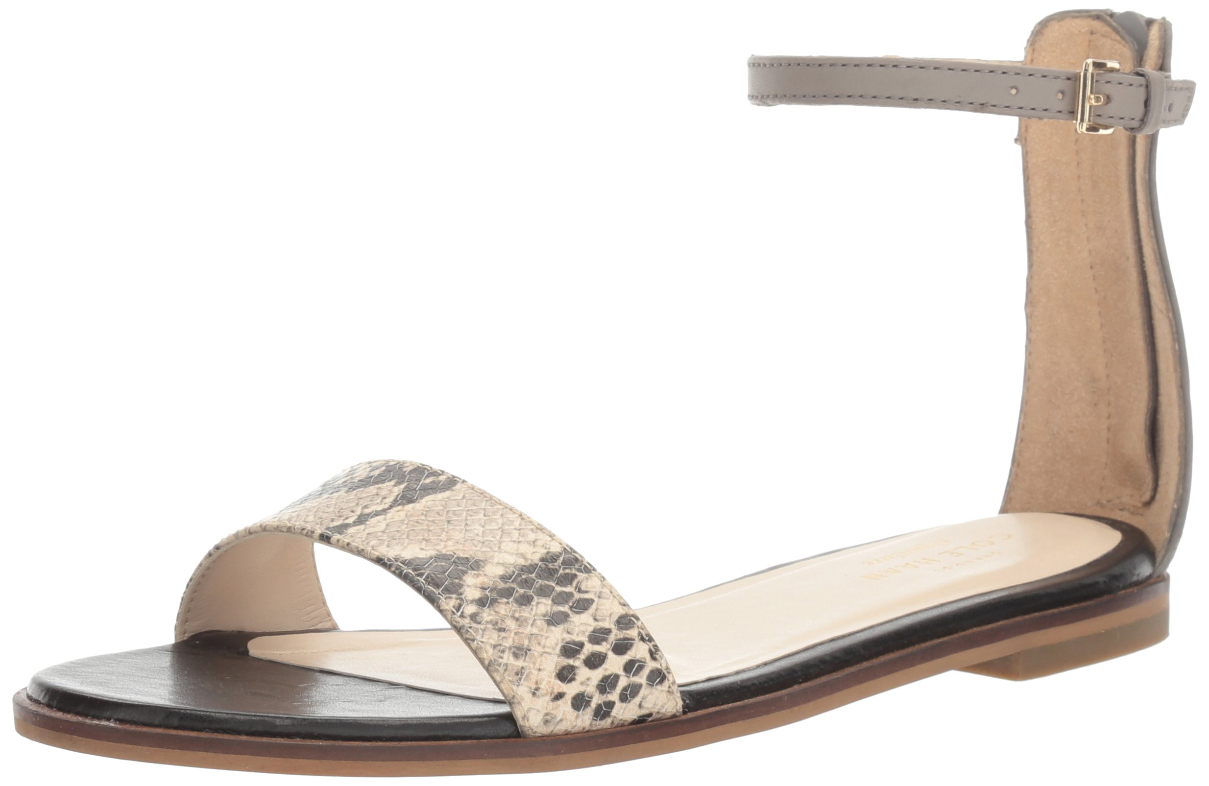 Cole Haan Women's Bayleen Ii Dress Sandal, Ironstone/Multi Snake Print, 10 B US