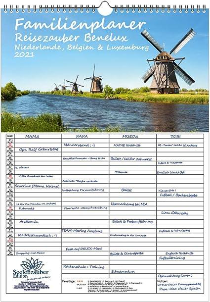 Calendario 2021 Festività Belgio Agenda familiare – Viaggio Benelux – Paesi Bassi, Belgio e