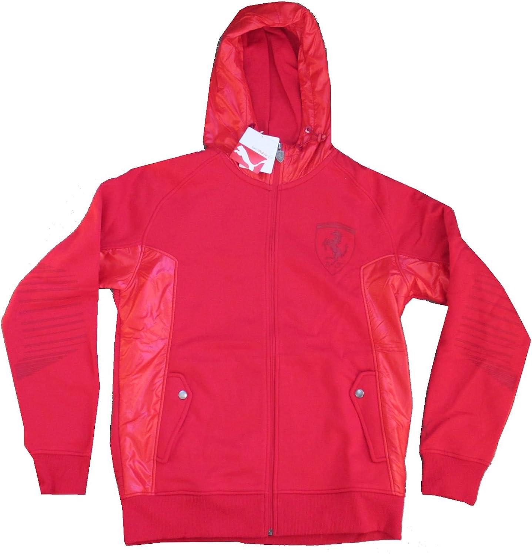 PUMA Ferrari Rossa Corsa Red Zip up Sweatshirt