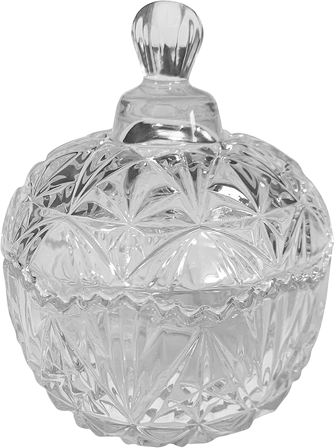Glass and Silver Candy Dish  Decorative Bowl