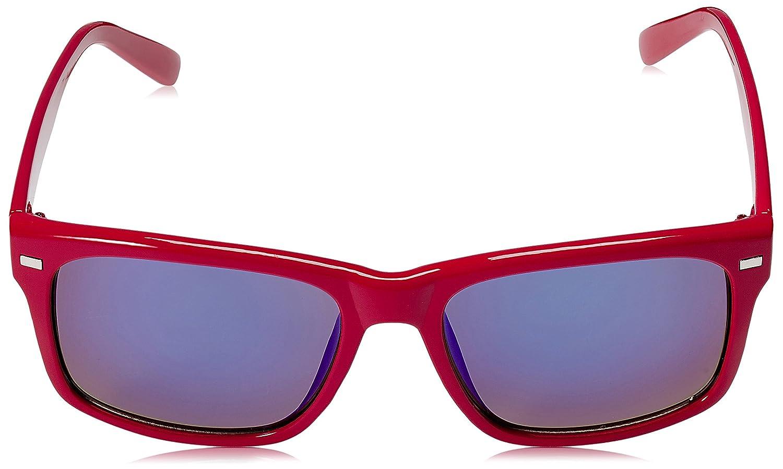 Dice Lunettes de soleil unisexe Taille unique Shiny Red/Blue Revo 66ur2kphj