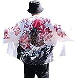 Hao Run Men Kimono Cardigan Japanese Noragi Jacket Yukata Coat Ukiyoe Baggy Tops