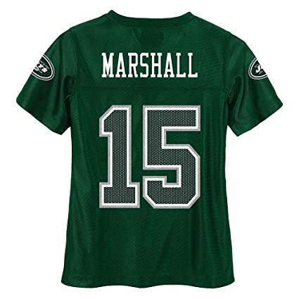 Outerstuff Brandon Marshall NFL New York Jets Dazzle Replica Green Home  Jersey Youth (M- 1903d0c09