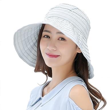 acd70ccc8beaf6 Konomise レディース 帽子 折りたたみ つば広 夏 UVカット 紫外線対策 サイズ調節可 通気性