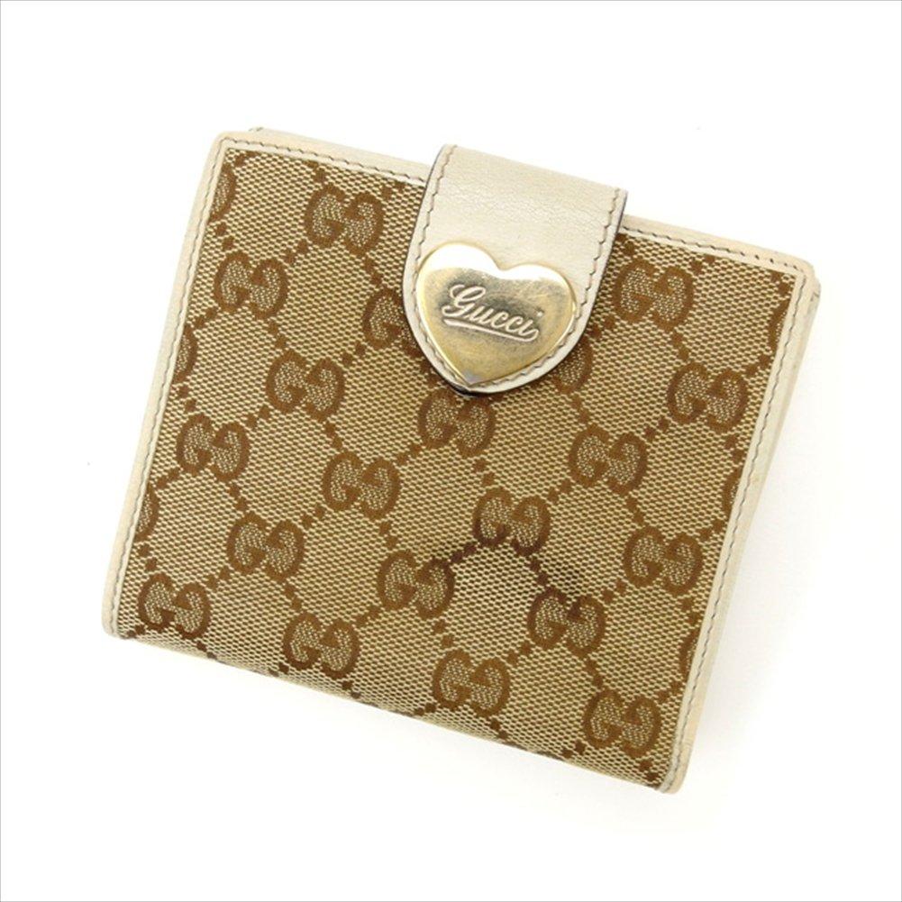 (グッチ) Gucci Wホック財布 ベージュ×ライトブラウン GGキャンバス レディース 中古 M1222   B01LY96ORG