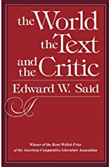 The World, the Text, and the Critic Kindle Edition