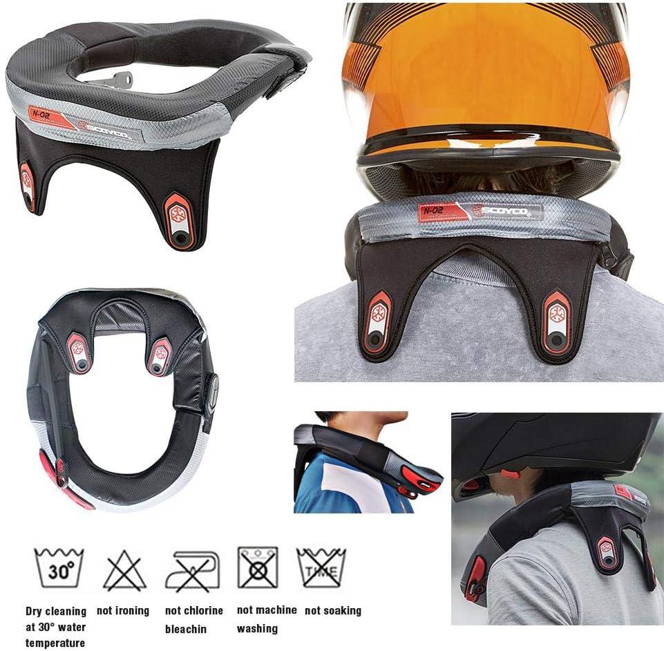 TUANMEIFADONGJI Protector de Cuello Carrera Collar Motocross Cuello ortopédico para Adultos Motocicleta Ciclismo Antifatiga Protector Guardia Off-Road Montar Cuerpo Protección Engranajes