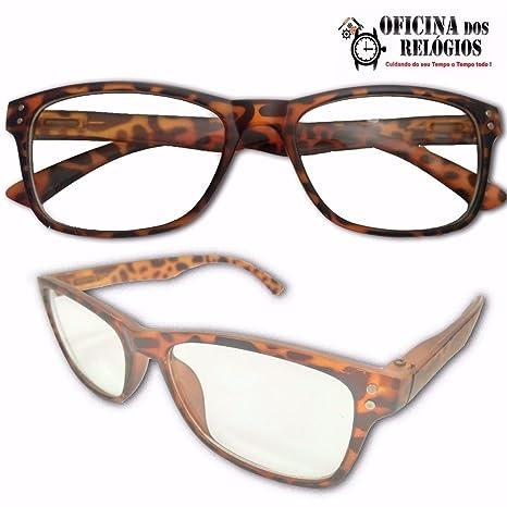 e3a07f6f2ba Armação para Oculos de Descanso ou Leitura Sem Grau Marrom - Frete Grátis