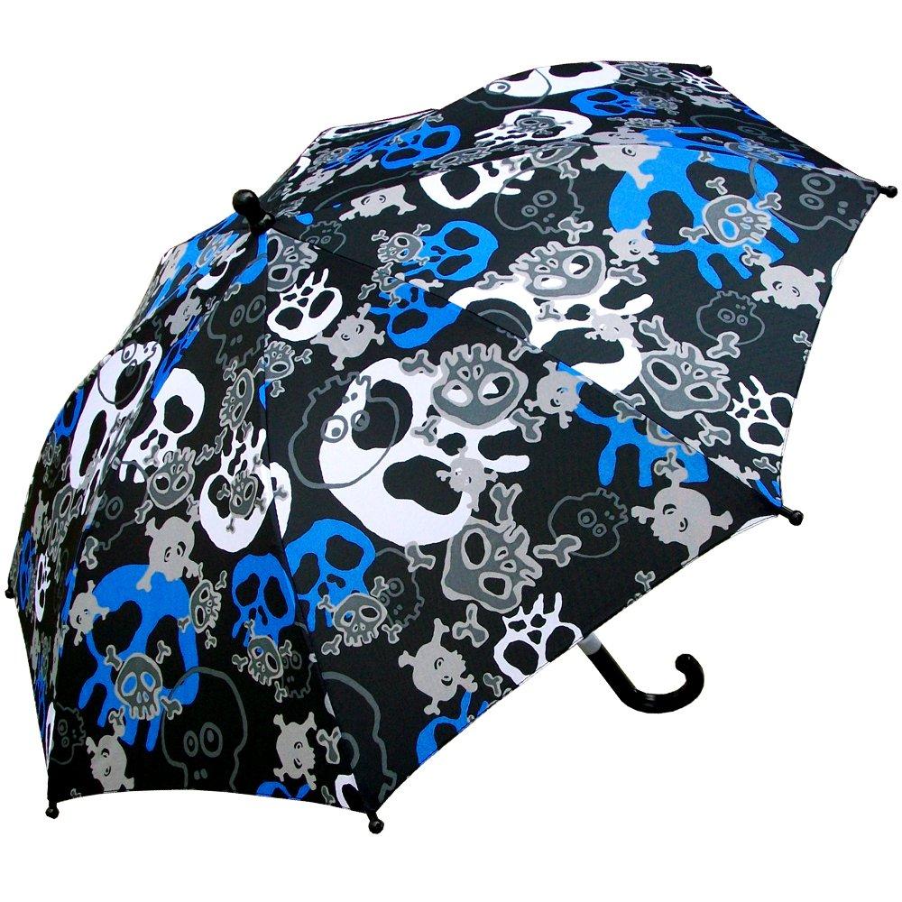 RainStoppers Boy's Skull Print Umbrella, 34-Inch