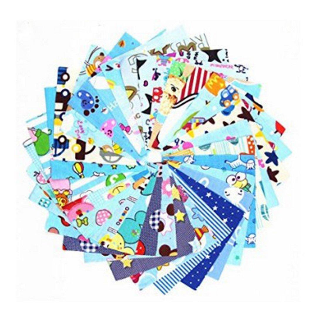 30PCs Tissu 10cm*10cm Carré Dessin Animé Patchwork Coton Coupon DIY Quilting Loisir Créatifs Textile Artisanat Bundle Écologique Bricolage Couture Scrapbooking Cysincos