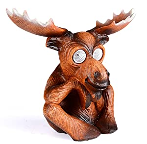 Solar Powered Moose Outdoor LED Garden Light Decor