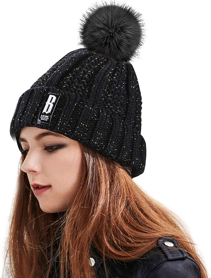 Sombrero caliente de la mujer, Proking Winter espesar cable gorras ...