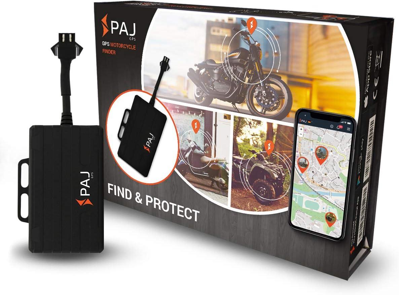 PAJ GSP Motorcycle Finder- Marca Alemana - conexión a baterías de 9-75V -Tracker Antirrobo para Moto, Squad y más