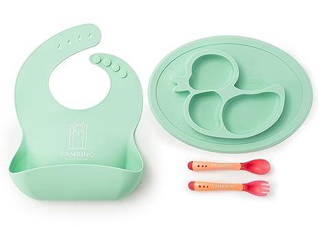 Juego de vajilla para niños sin BPA - experiencia de comer sin manchas - platos para