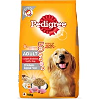 Pedigree Adult Dry Dog Food, (High Protein Variant) Chicken, Egg & Rice, 10kg Pack