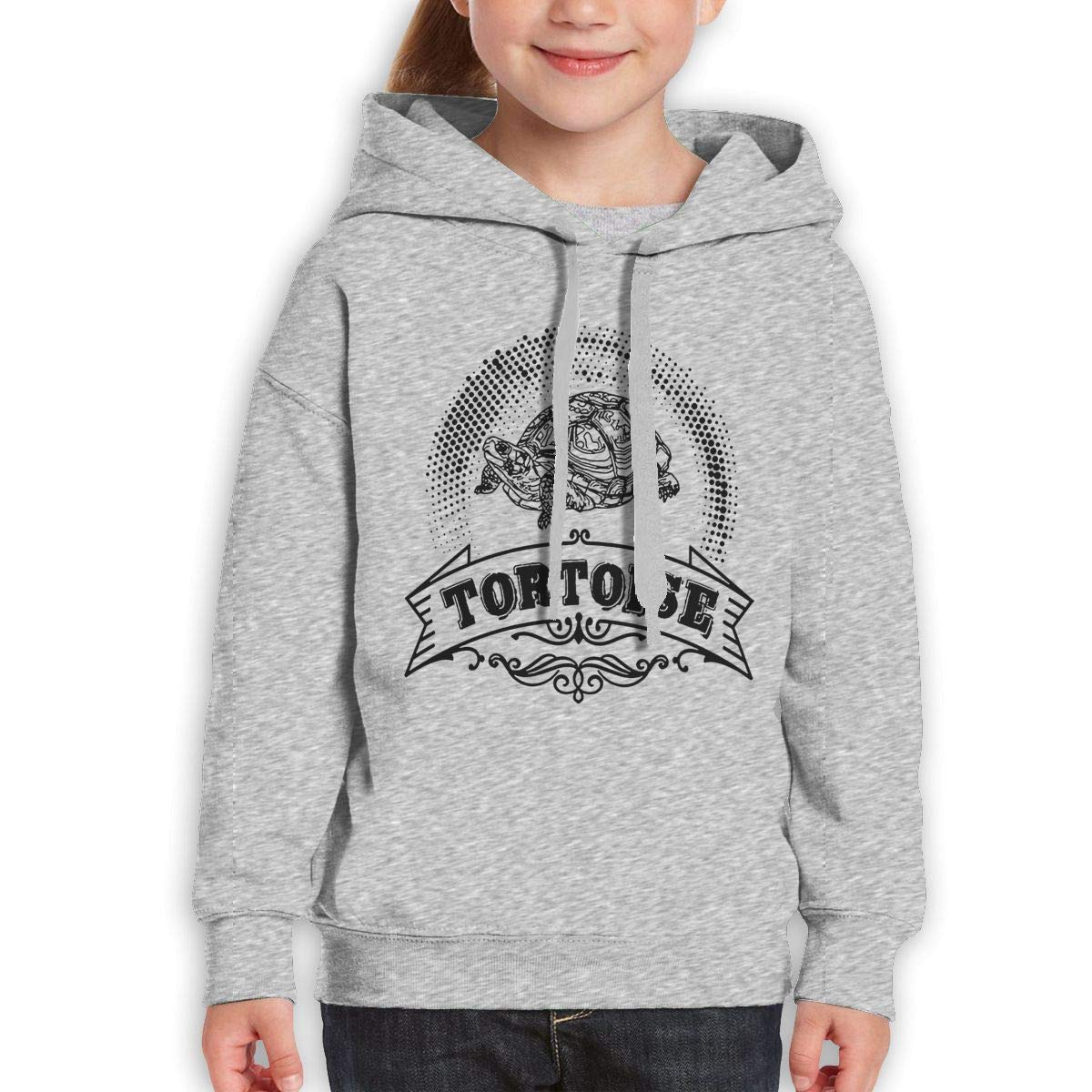 Boys Girls Vintage Style Tortoise Teen Youth Sweater Gray S