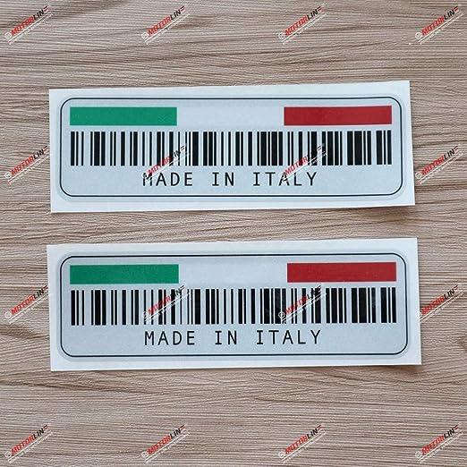 3S MOTORLINE 2X Glossy 3 Italy ITA Oval Country Code Decal Sticker Italian Flag Car Vinyl Italia
