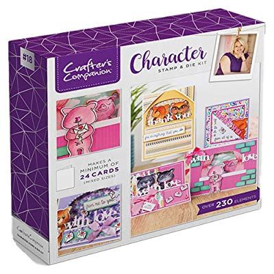 Crafters Companion CC-KIT-18-CHAR Character Stamp & Die Craft Box Kit, us:one Size, Various: Arts, Crafts & Sewing