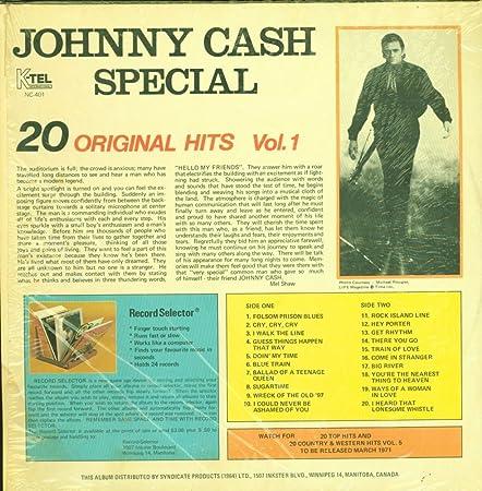 Johnny Cash Johnny Cash Special 20 Original Hits K Tel Nc 401 Canada Still Ln Shrinkwrap Nm Nm Lp Amazon Com Music